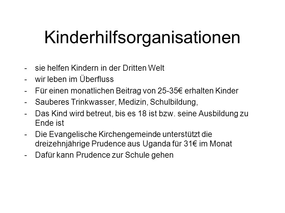 Kinderhilfsorganisationen