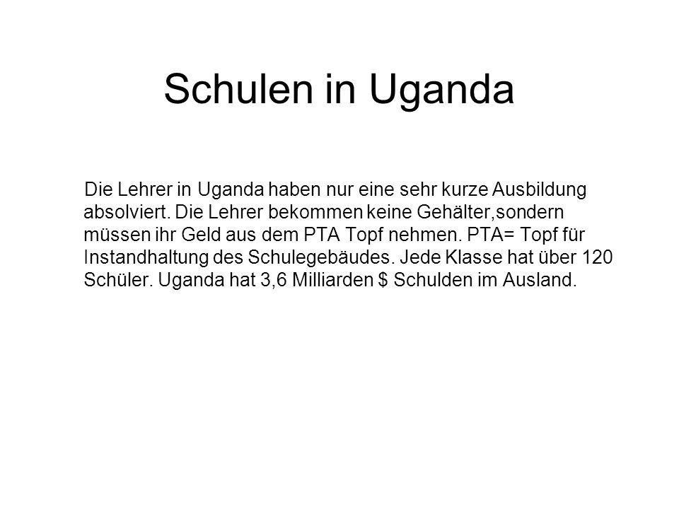 Schulen in Uganda