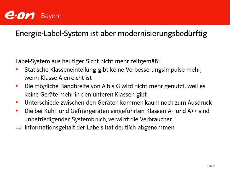 Energie-Label-System ist aber modernisierungsbedürftig