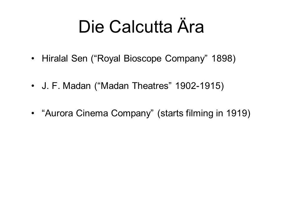Die Calcutta Ära Hiralal Sen ( Royal Bioscope Company 1898)