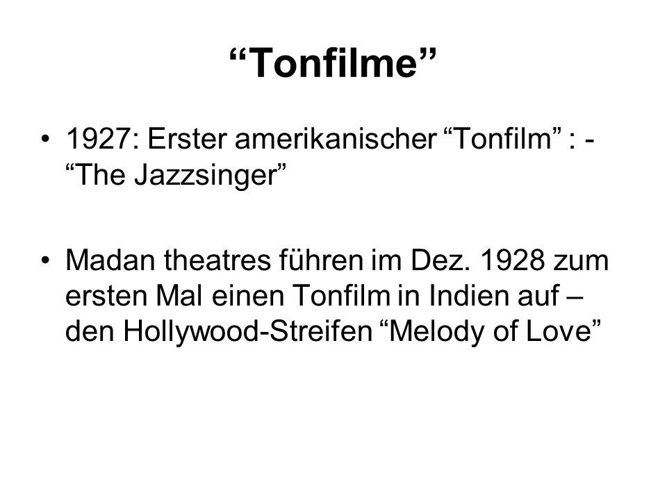 Tonfilme 1927: Erster amerikanischer Tonfilm : - The Jazzsinger
