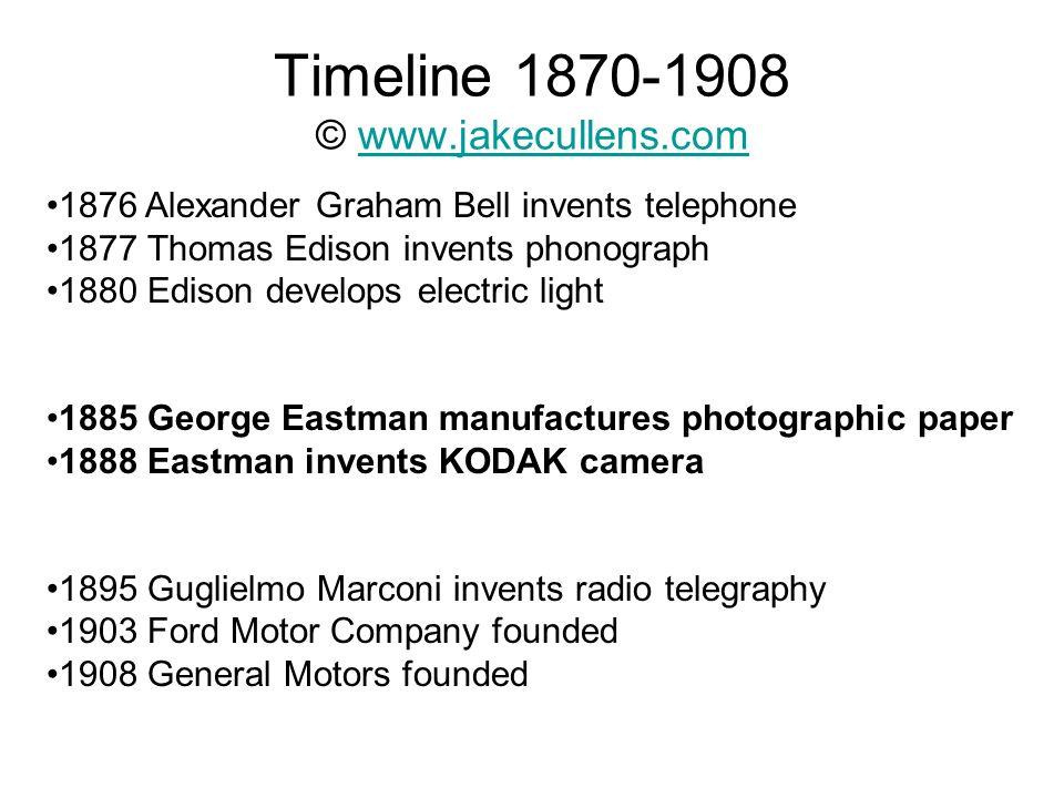 Timeline 1870-1908 © www.jakecullens.com