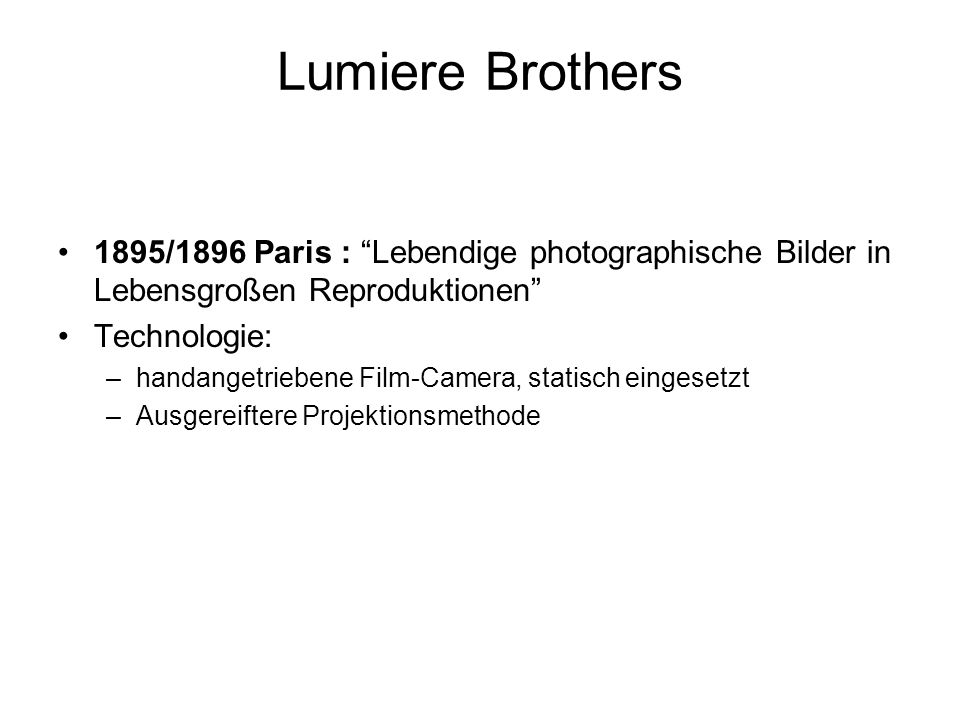 Lumiere Brothers 1895/1896 Paris : Lebendige photographische Bilder in Lebensgroßen Reproduktionen