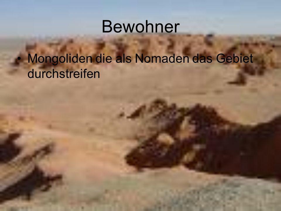 Bewohner Mongoliden die als Nomaden das Gebiet durchstreifen