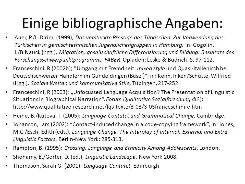 Einige bibliographische Angaben:
