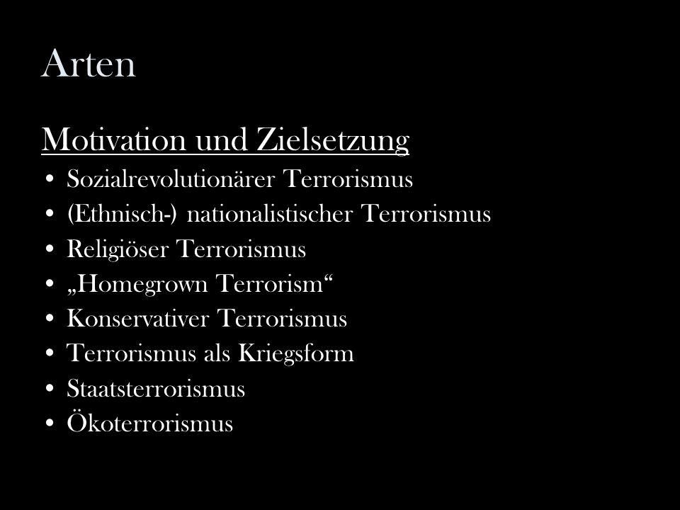 Arten Motivation und Zielsetzung Sozialrevolutionärer Terrorismus