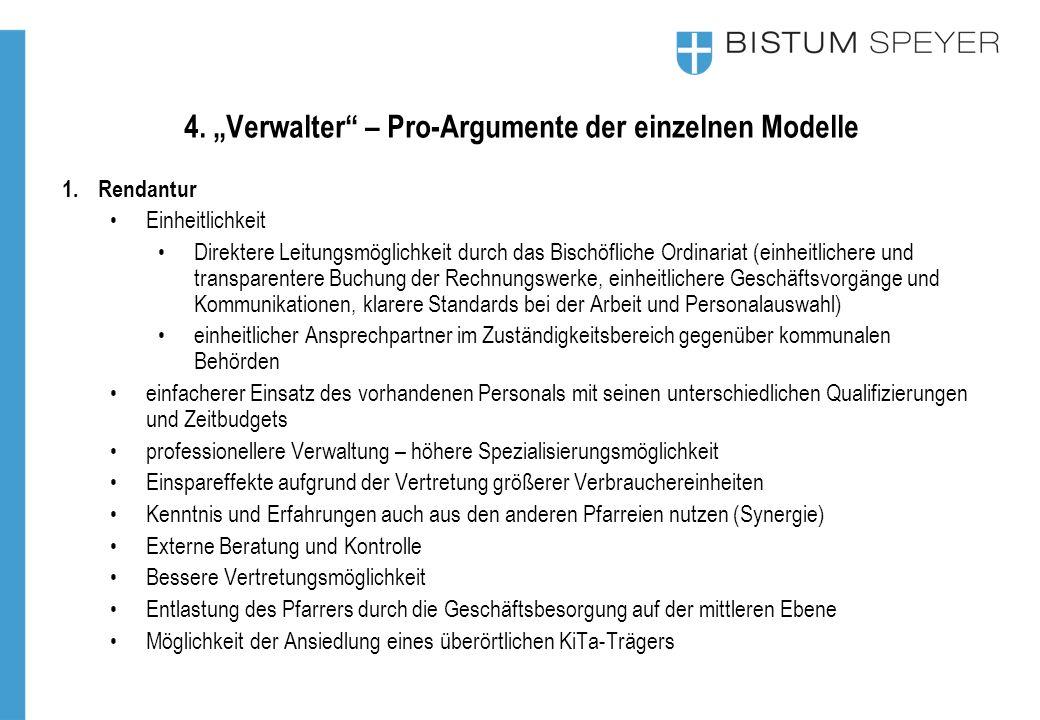 """4. """"Verwalter – Pro-Argumente der einzelnen Modelle"""