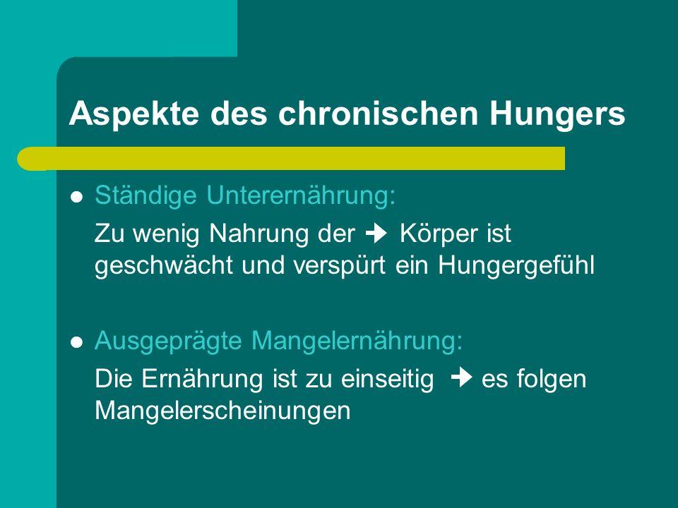 Aspekte des chronischen Hungers