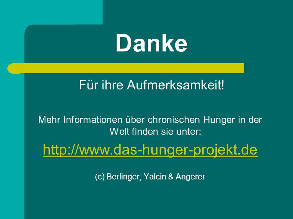 Danke http://www.das-hunger-projekt.de Für ihre Aufmerksamkeit!