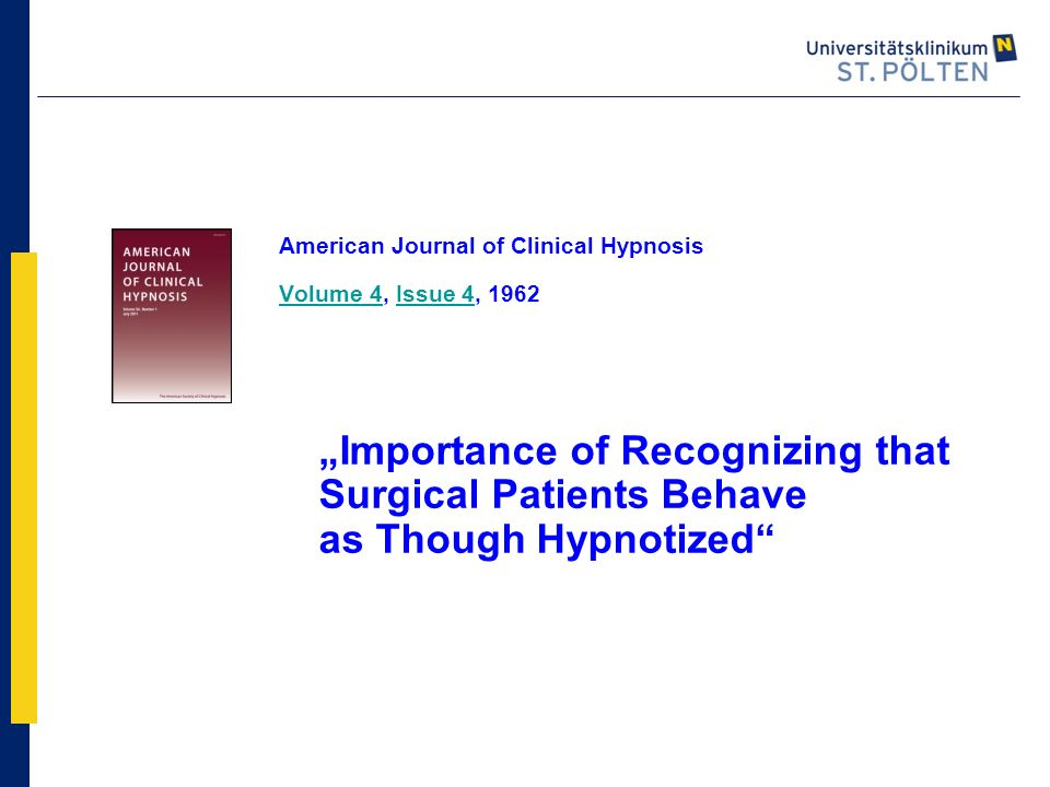 American Journal of Clinical Hypnosis