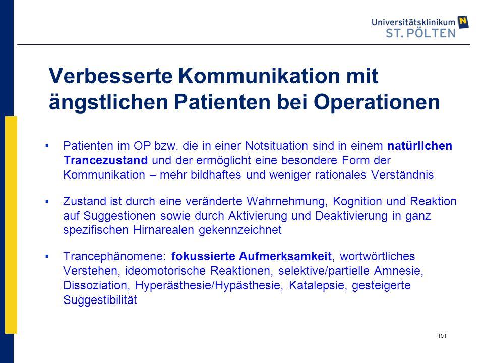 Verbesserte Kommunikation mit ängstlichen Patienten bei Operationen