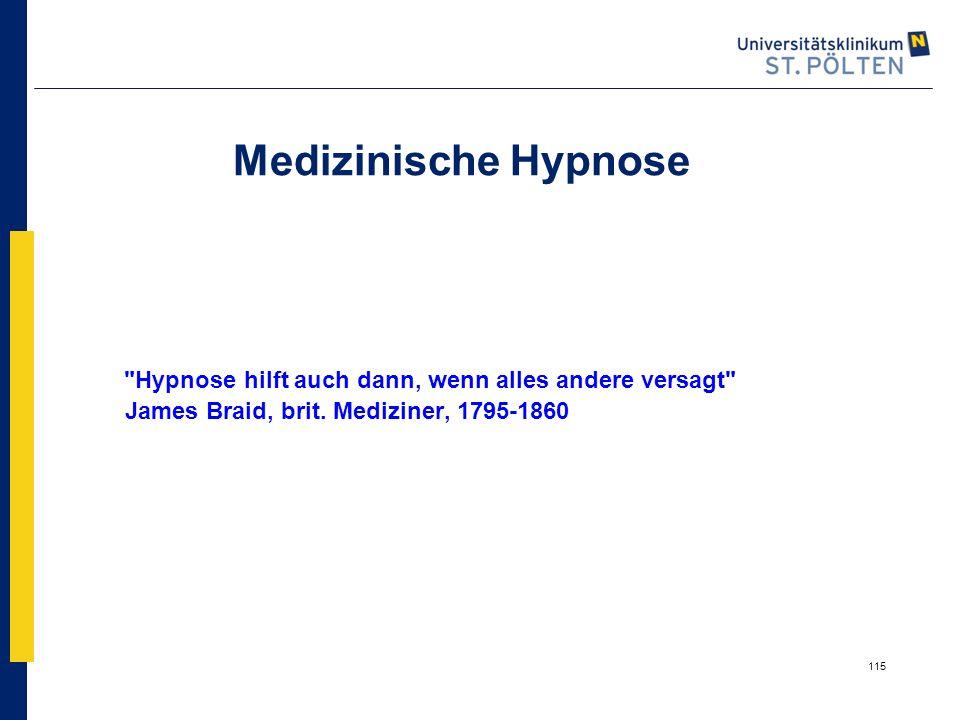 Medizinische Hypnose Hypnose hilft auch dann, wenn alles andere versagt James Braid, brit.