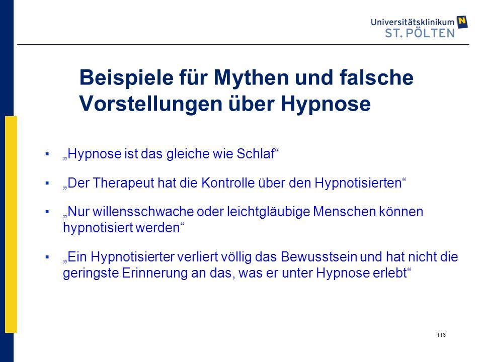 Beispiele für Mythen und falsche Vorstellungen über Hypnose
