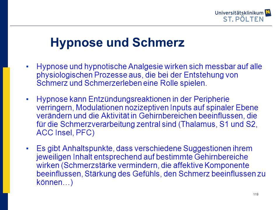 Hypnose und Schmerz