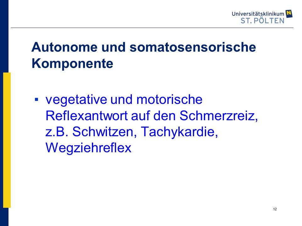 Autonome und somatosensorische Komponente