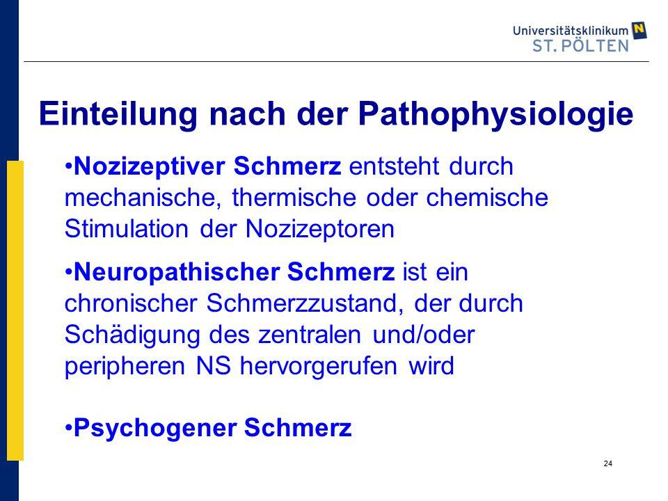 Einteilung nach der Pathophysiologie
