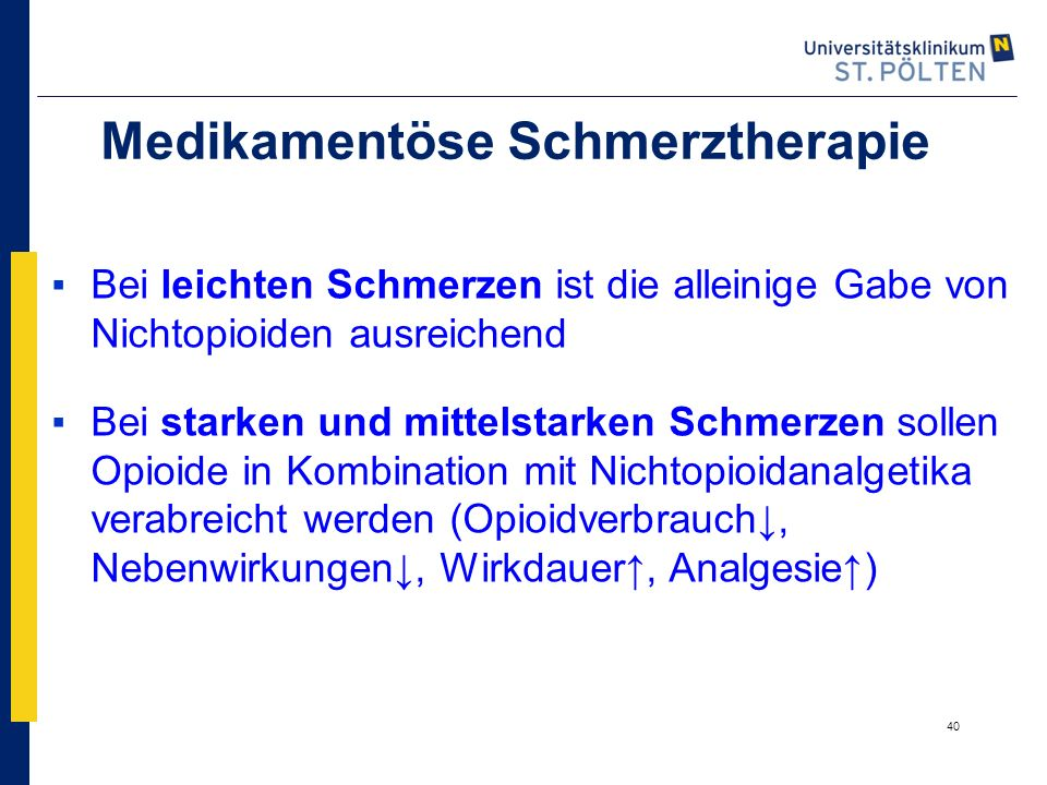 Medikamentöse Schmerztherapie