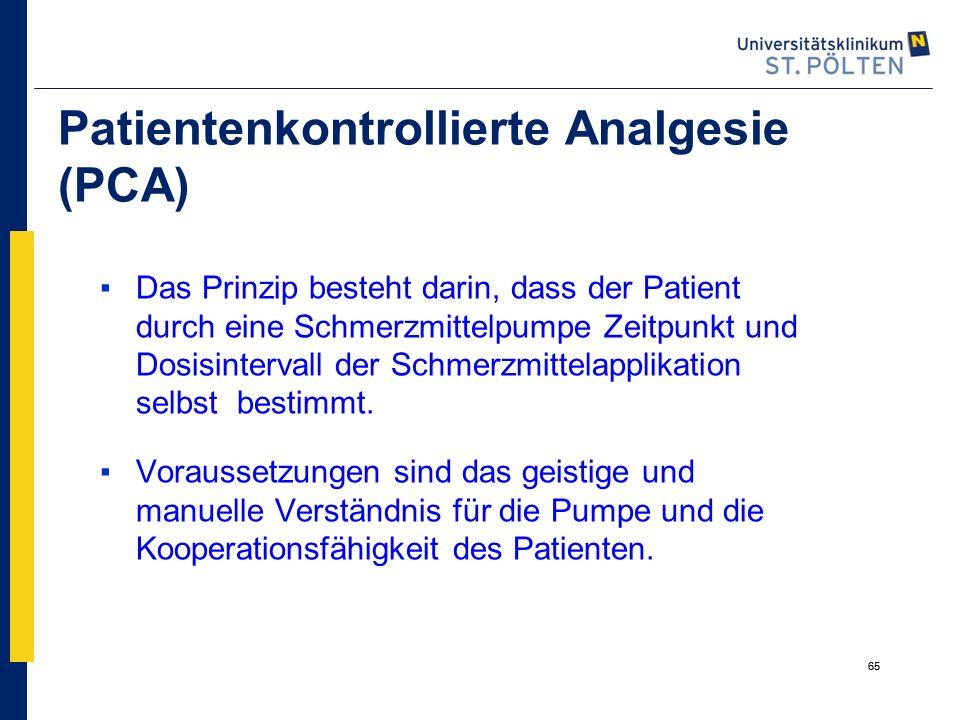 Patientenkontrollierte Analgesie (PCA)