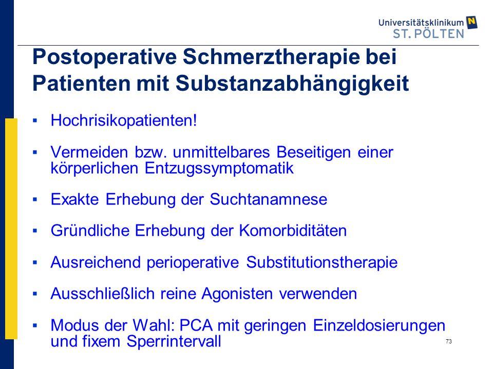 Postoperative Schmerztherapie bei Patienten mit Substanzabhängigkeit