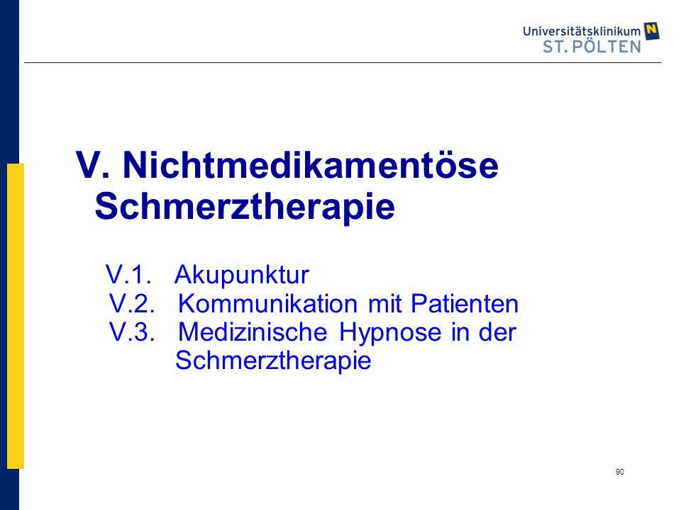 V. Nichtmedikamentöse Schmerztherapie