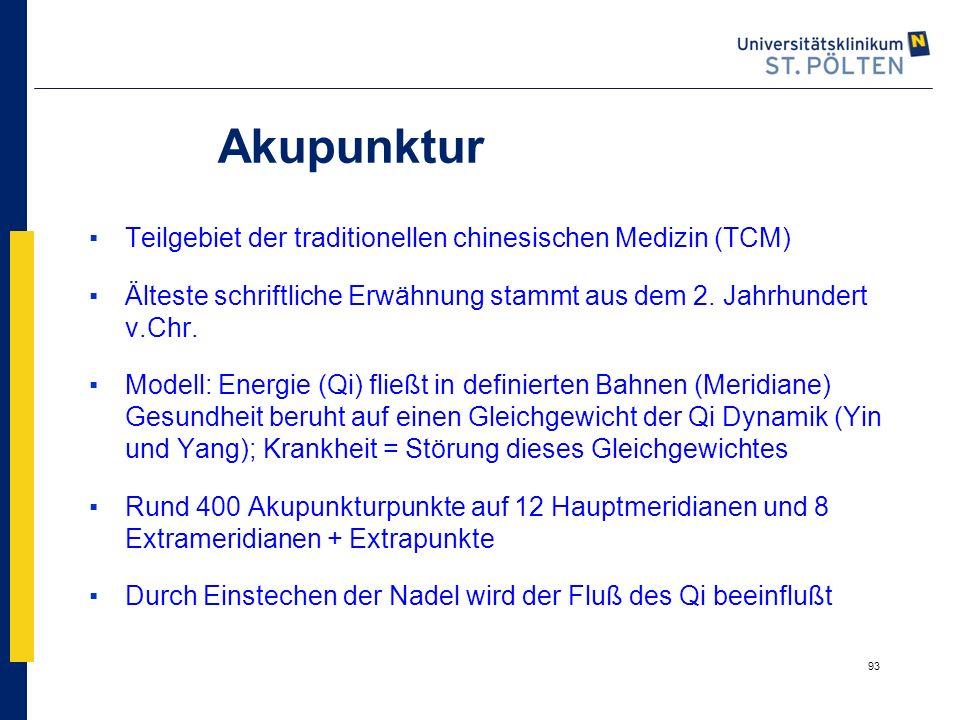 Akupunktur Teilgebiet der traditionellen chinesischen Medizin (TCM)