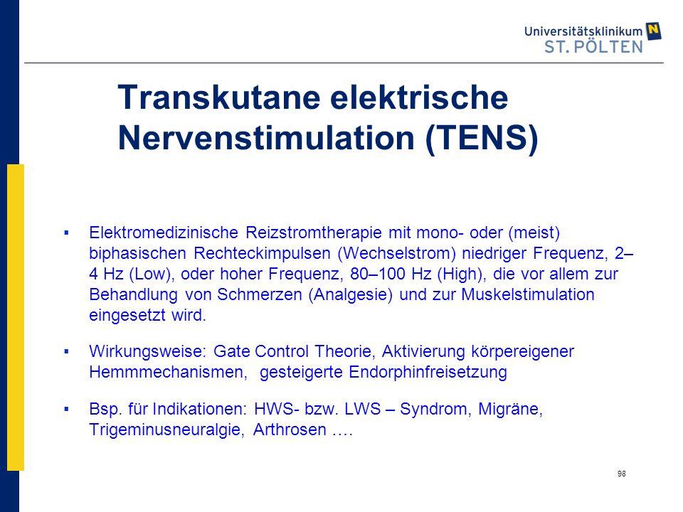 Transkutane elektrische Nervenstimulation (TENS)