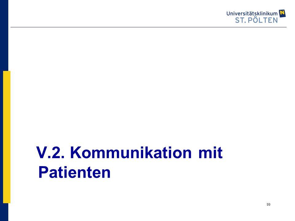 V.2. Kommunikation mit Patienten