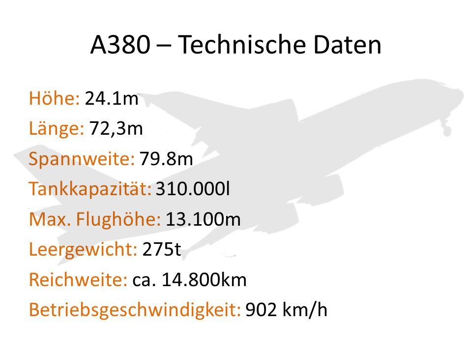 A380 – Technische Daten