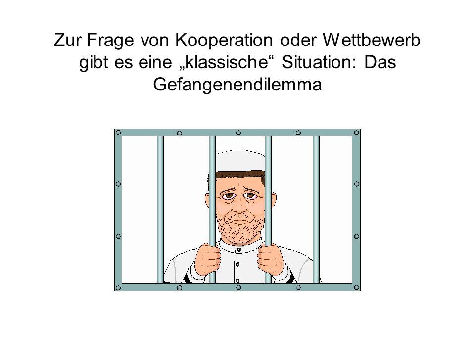 """Zur Frage von Kooperation oder Wettbewerb gibt es eine """"klassische Situation: Das Gefangenendilemma"""