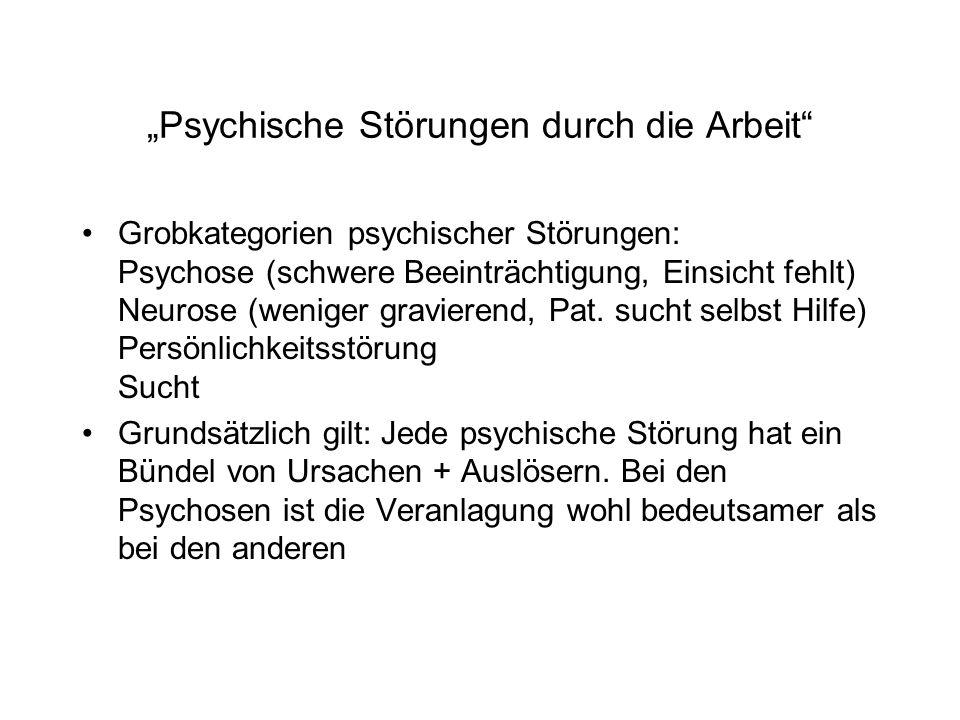 """""""Psychische Störungen durch die Arbeit"""