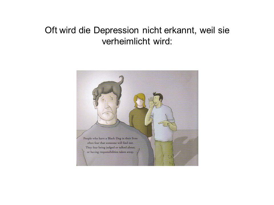 Oft wird die Depression nicht erkannt, weil sie verheimlicht wird: