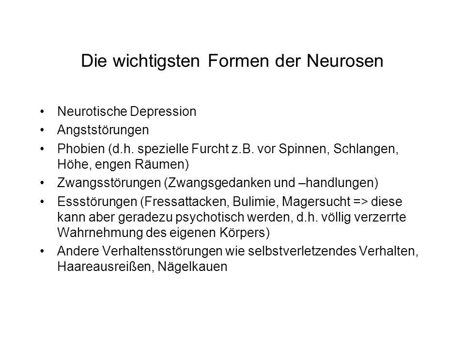 Die wichtigsten Formen der Neurosen