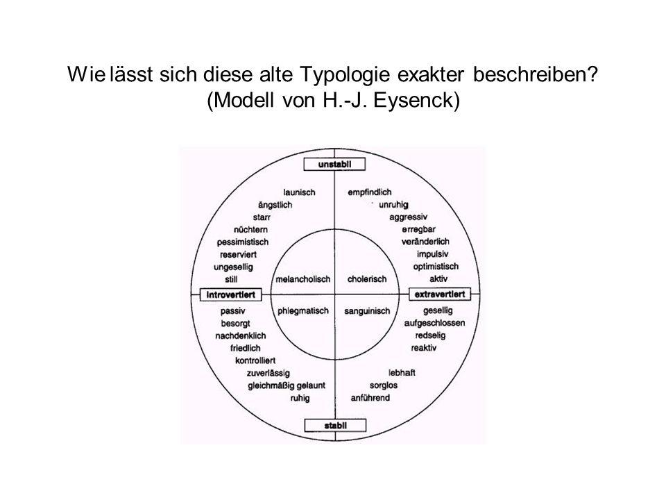 Wie lässt sich diese alte Typologie exakter beschreiben. (Modell von H