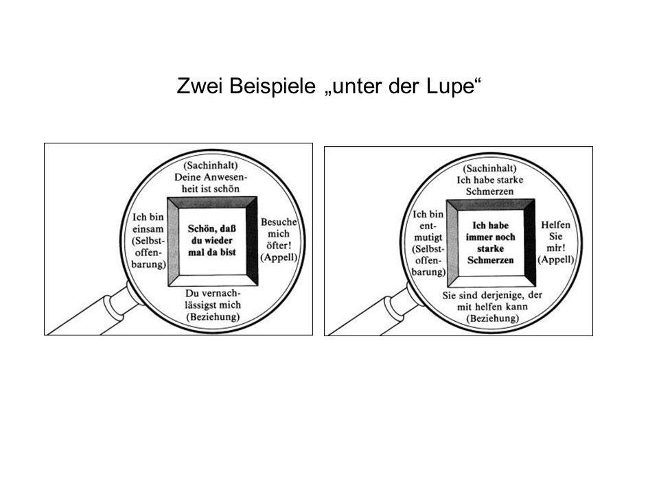 """Zwei Beispiele """"unter der Lupe"""