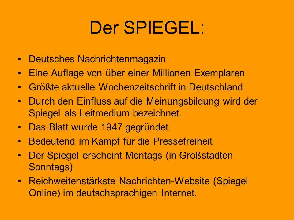 Der SPIEGEL: Deutsches Nachrichtenmagazin