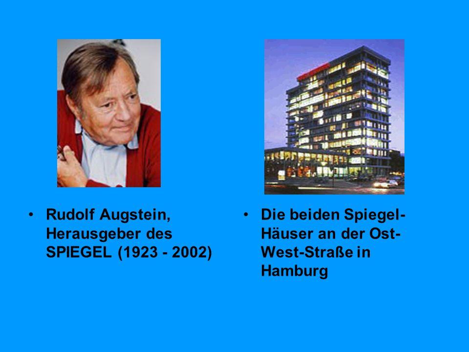Rudolf Augstein, Herausgeber des SPIEGEL (1923 - 2002)