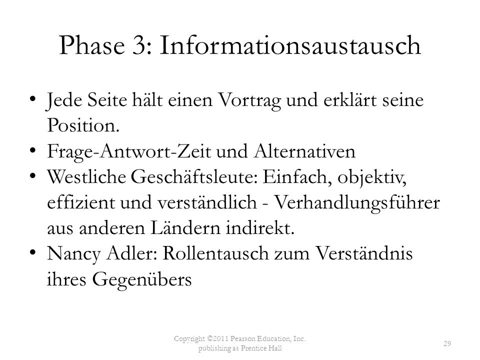 Phase 3: Informationsaustausch