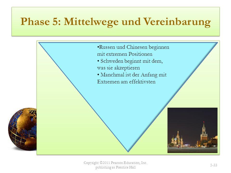 Phase 5: Mittelwege und Vereinbarung