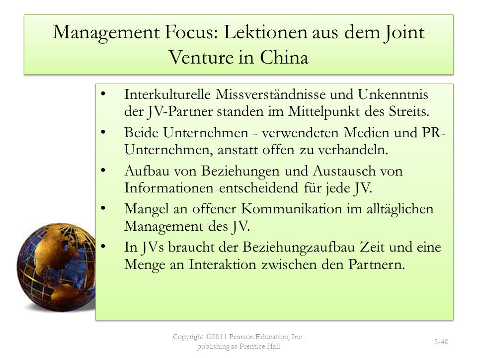 Management Focus: Lektionen aus dem Joint Venture in China