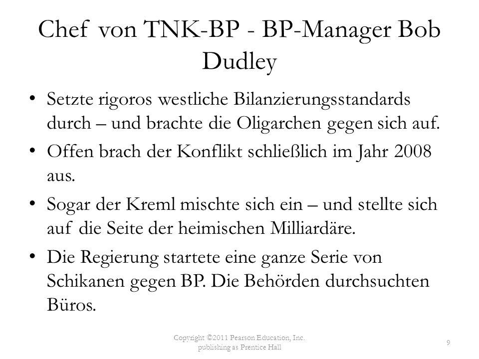 Chef von TNK-BP - BP-Manager Bob Dudley