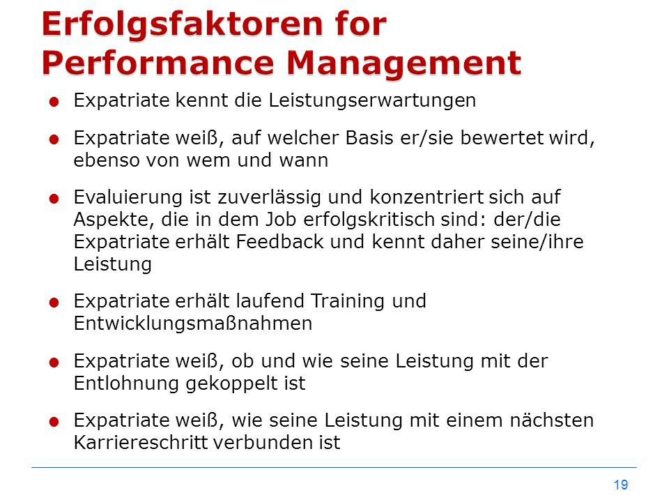 Erfolgsfaktoren for Performance Management