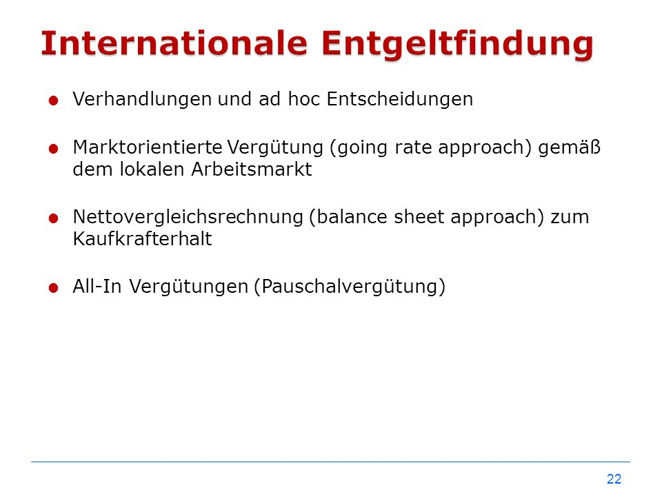 Internationale Entgeltfindung