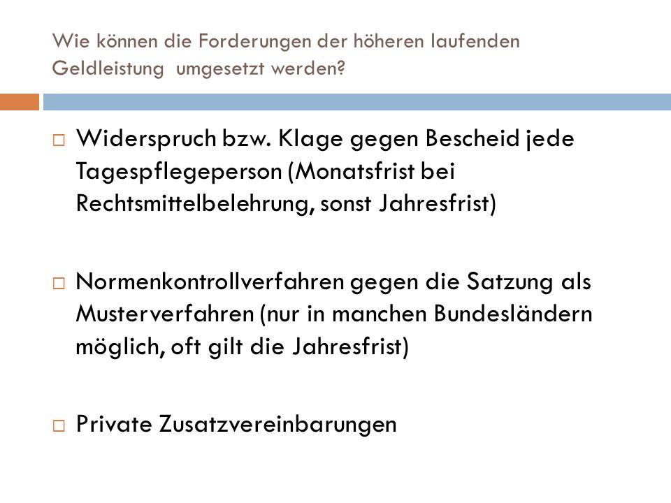 Private Zusatzvereinbarungen