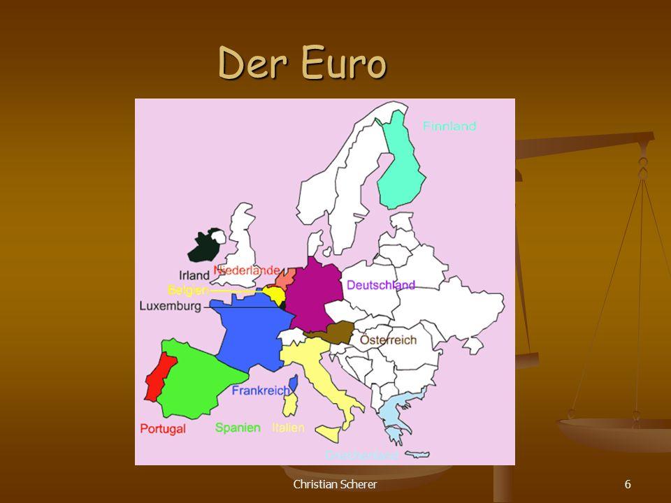 Der Euro Christian Scherer