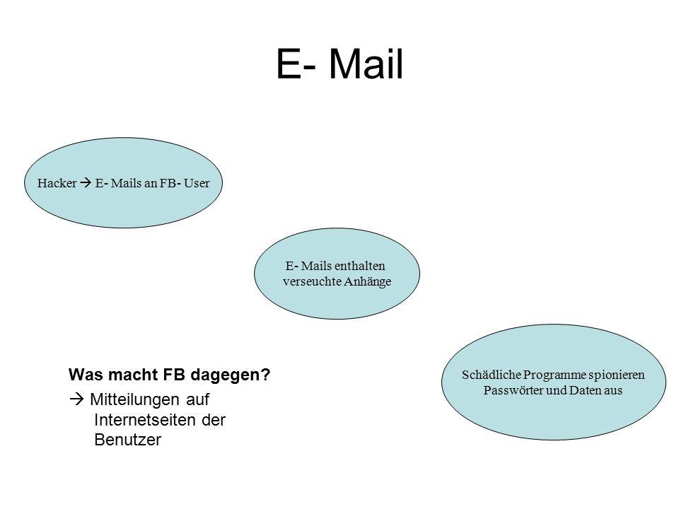 E- Mail Was macht FB dagegen