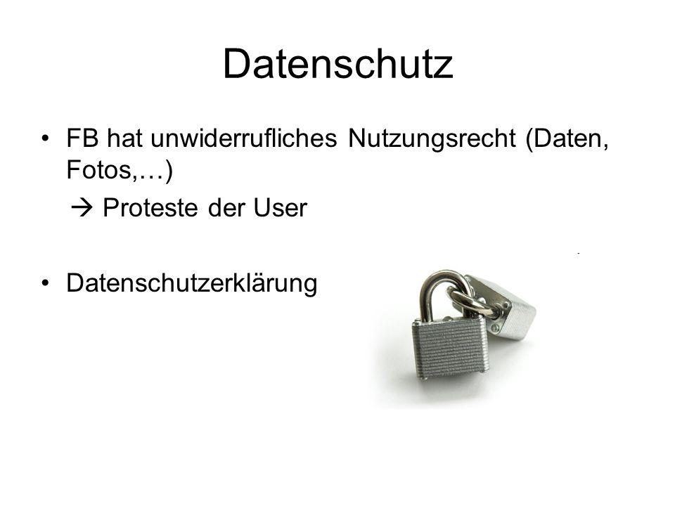 Datenschutz FB hat unwiderrufliches Nutzungsrecht (Daten, Fotos,…)