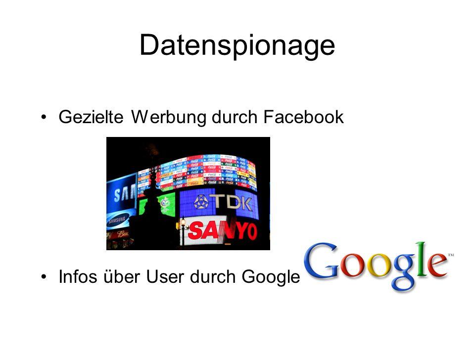 Datenspionage Gezielte Werbung durch Facebook