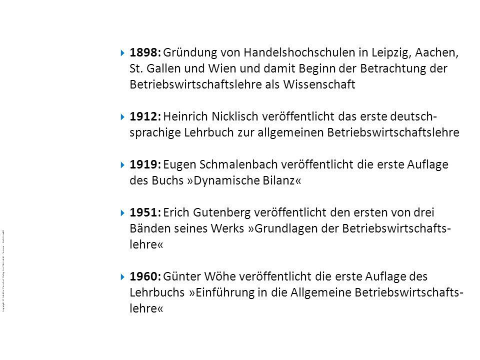 1898: Gründung von Handelshochschulen in Leipzig, Aachen, St