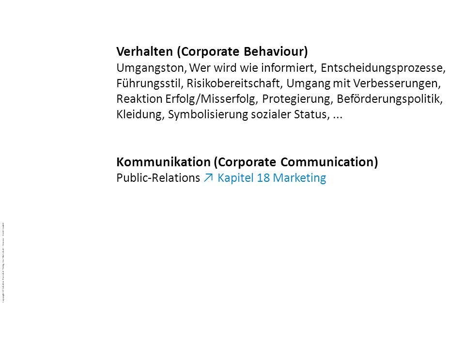 Verhalten (Corporate Behaviour)