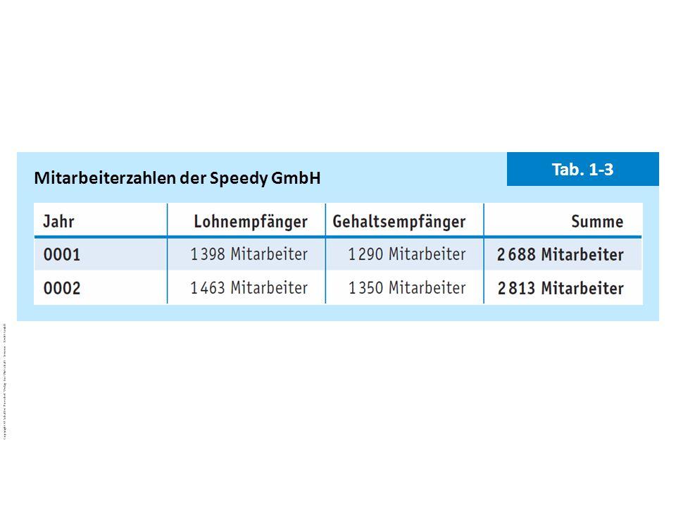 Mitarbeiterzahlen der Speedy GmbH